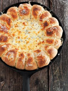 Pull Apart Bread and AmeriMex Bean and Cheese Dip
